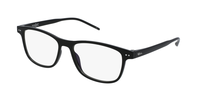 Gafas graduadas hombre MAGIC 46 BLUEBLOCK negro - vue de 3/4