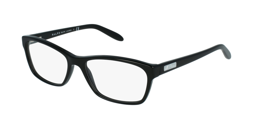 Gafas graduadas mujer RA7039 negro/negro - vue de 3/4