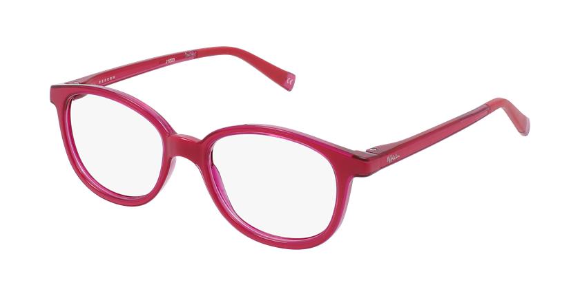 Gafas graduadas niños RFOM1 rosa/rosa - vue de 3/4