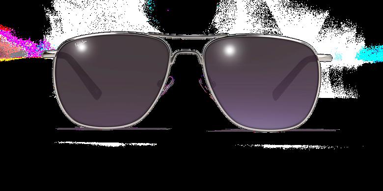 Gafas de sol hombre SAH4855 plateadovista de frente