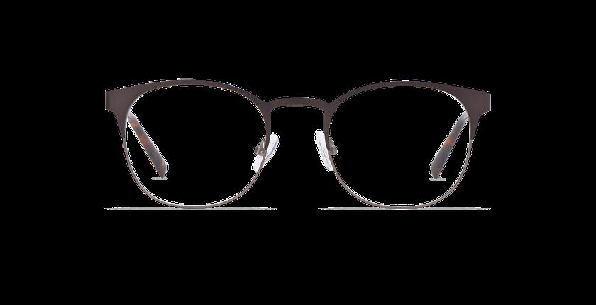 Gafas graduadas hombre JUSTIN marrón/gris - vista de frente
