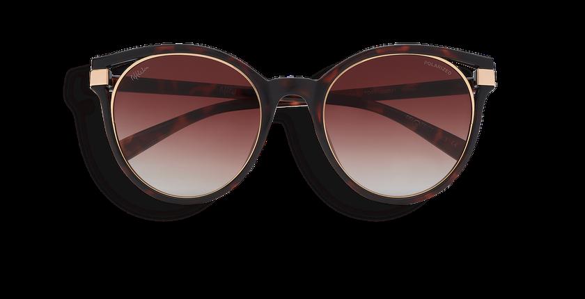 Gafas de sol mujer IOVANA POLARIZED carey/dorado - vista de frente