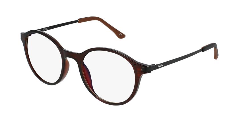 Gafas graduadas mujer MAGIC 37 BLUE BLOCK marrón - vue de 3/4