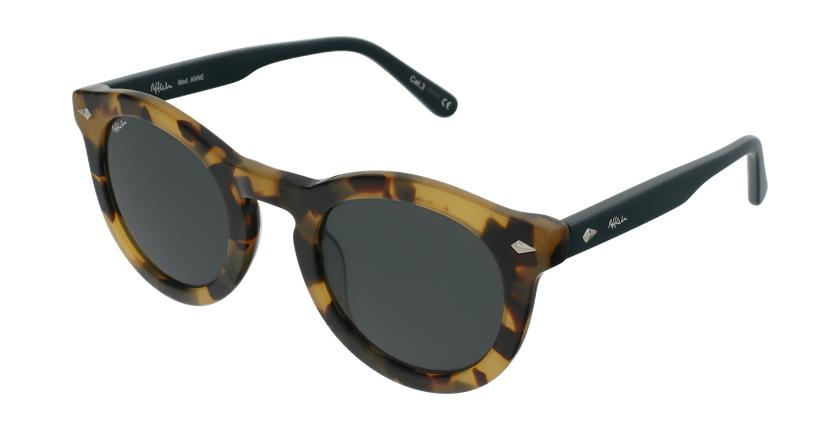 Gafas de sol mujer ANNE carey/verde - vue de 3/4