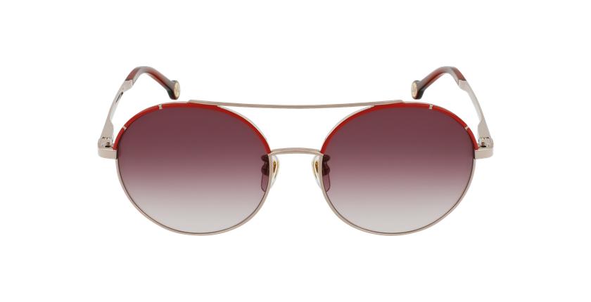 Gafas de sol mujer SHE173 dorado/rojo - vista de frente