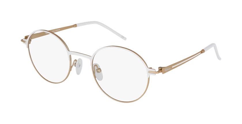 Gafas graduadas mujer VENUS blanco/beige - vue de 3/4