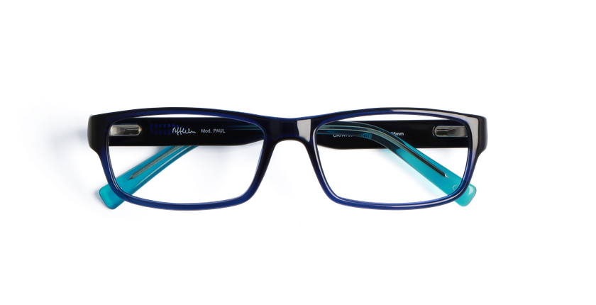 Gafas graduadas hombre PAUL azul - vista de frente