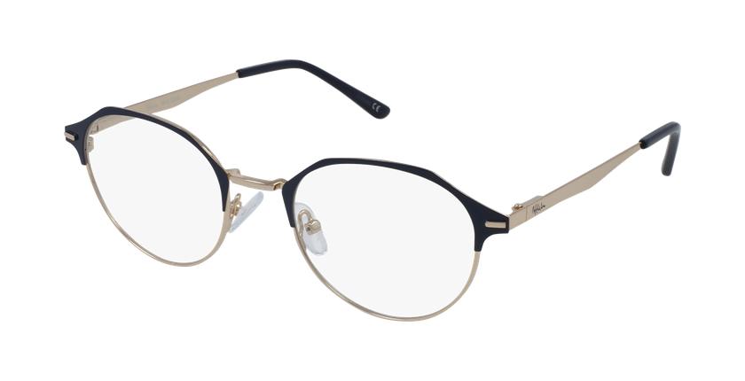 Gafas graduadas mujer OAF20524 azul/dorado - vue de 3/4