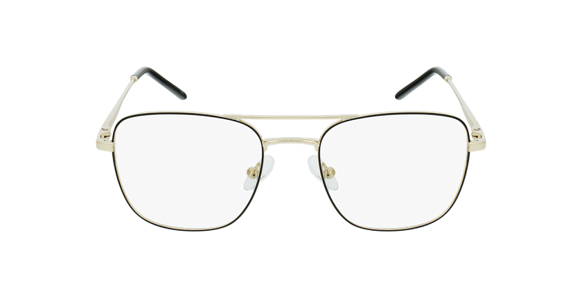 Gafas graduadas hombre WALTER negro/dorado - vista de frente