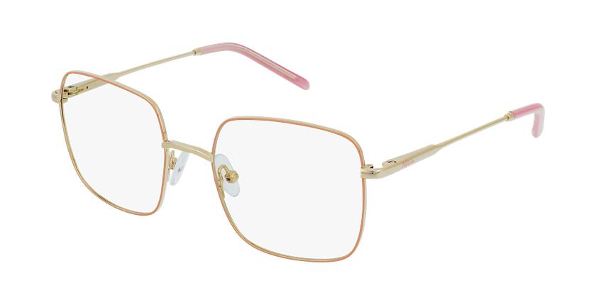 Gafas graduadas niños STELLA rosa/dorado - vue de 3/4
