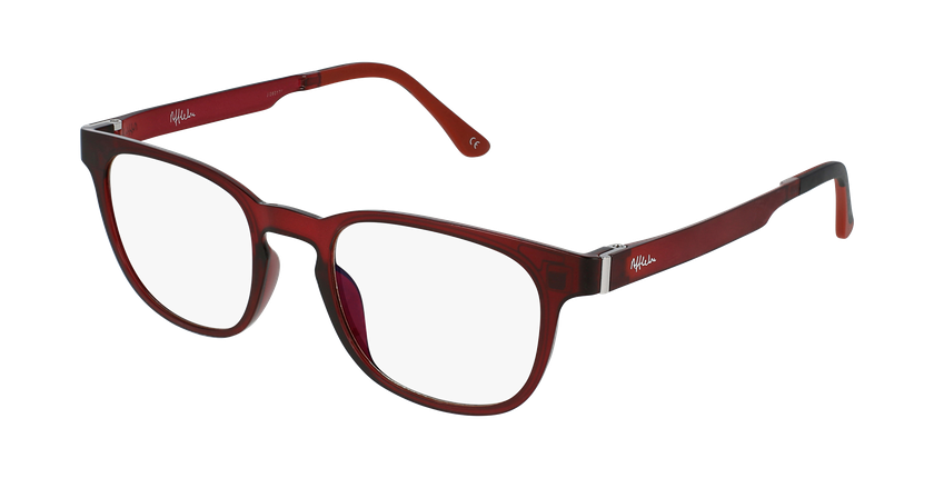 Gafas graduadas hombre MAGIC 33 BLUE BLOCK rojo - vue de 3/4