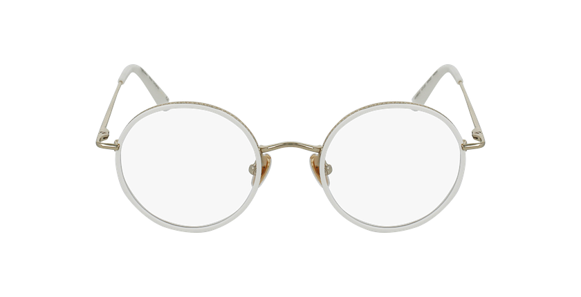 Gafas graduadas CHOPIN dorado/blanco - vista de frente