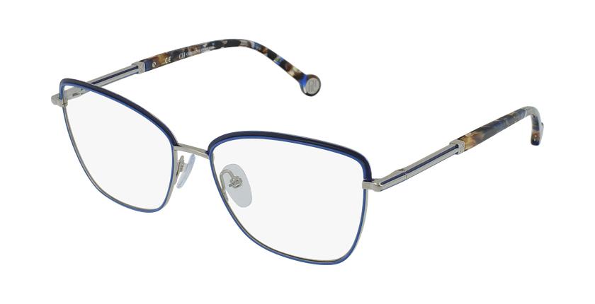 Gafas graduadas mujer VHE168 azul/plateado - vue de 3/4