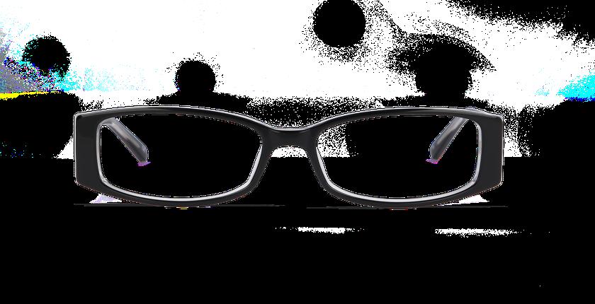Gafas graduadas mujer ADELINE negro - vista de frente