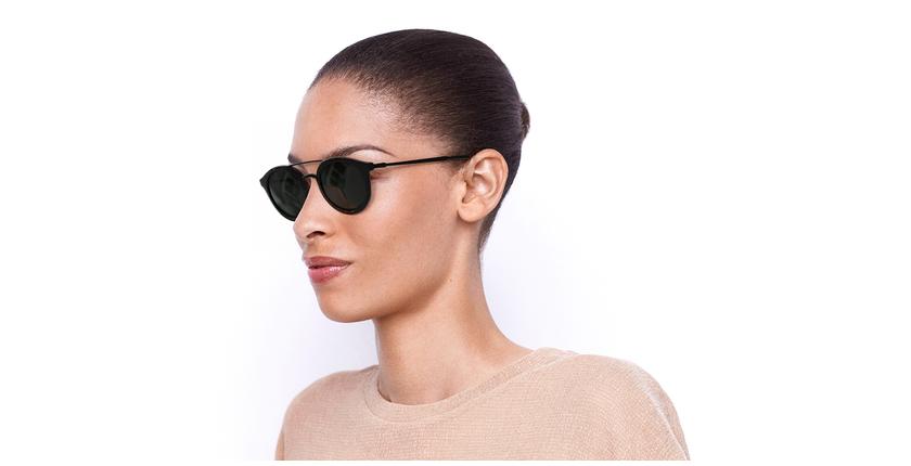 Gafas de sol mujer ITABATA carey/negro - vue de 3/4