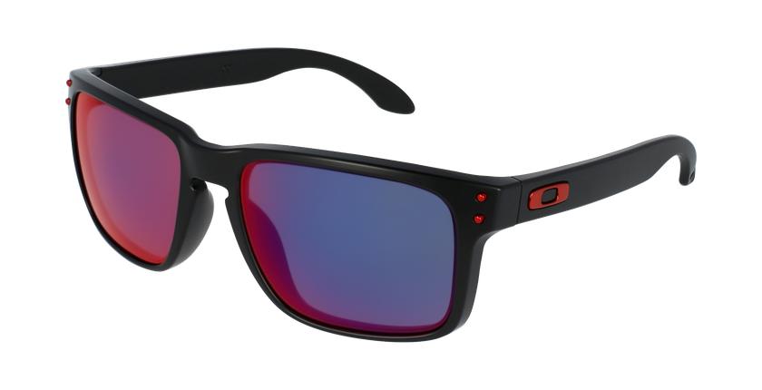 Gafas de sol hombre HOLBROOK rojo/negro - vue de 3/4