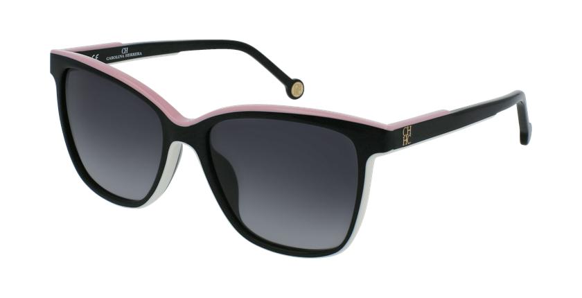 Gafas de sol mujer SHE792 negro/blanco - vue de 3/4