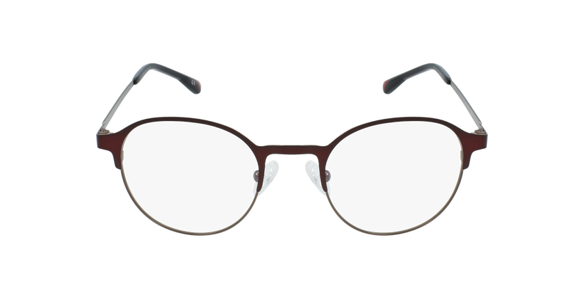 Gafas graduadas hombre MAGIC 53 BLUEBLOCK rojo/marrón - vista de frente