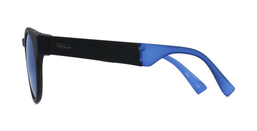 Gafas de sol mujer SLALOM negro/azul - vista de lado