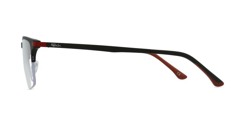 Gafas graduadas hombre MAGIC 56 BLUEBLOCK negro/rojo - vista de lado