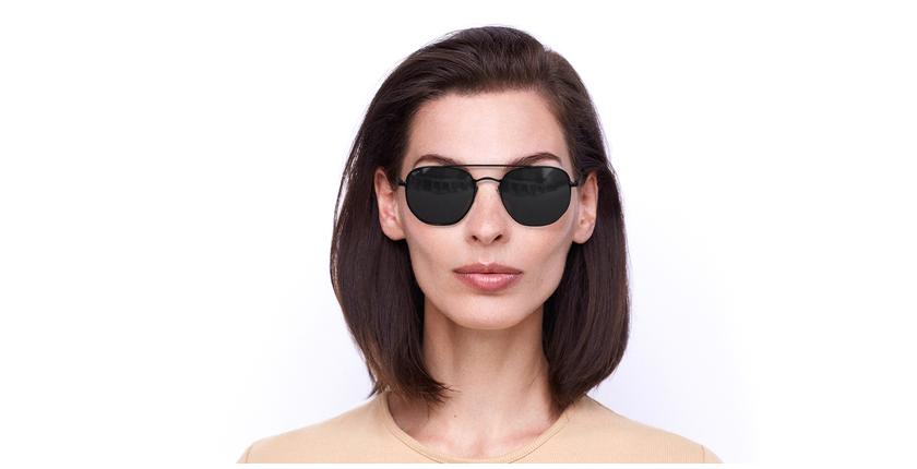 Gafas de sol STAN negro - vista de frente