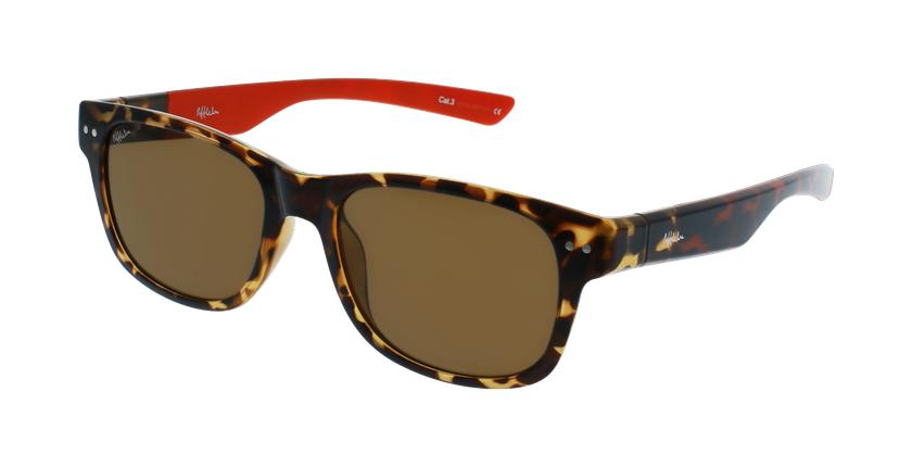 Gafas de sol hombre FLORENT carey/rojo - vue de 3/4