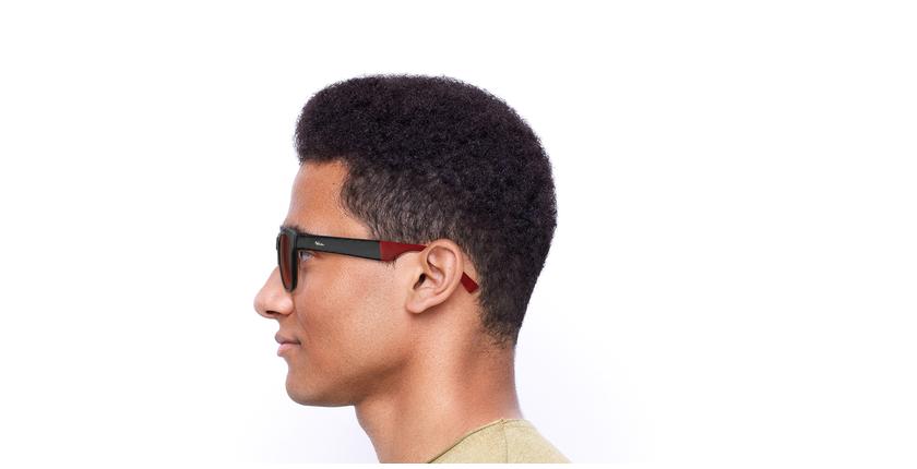 Gafas de sol hombre GEANT negro/rojo - vista de lado