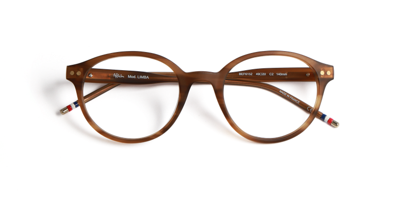 Gafas graduadas hombre LIMBA marrón - vista de frente