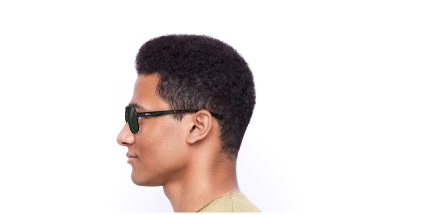Gafas de sol hombre CRUZ negro/carey - vista de lado