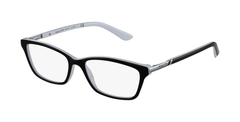 Gafas graduadas mujer 7044 negro/blanco - vue de 3/4