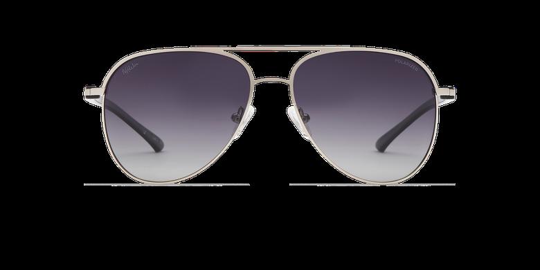 Gafas de sol MIAMO POLARIZED plateado/negrovista de frente