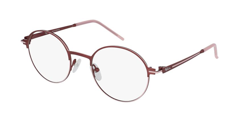 Gafas graduadas mujer VENUS rojo/rosa - vue de 3/4