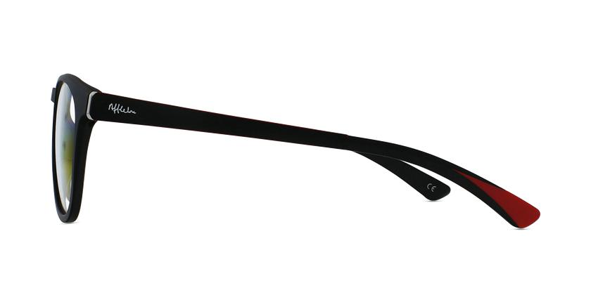 Gafas graduadas hombre MAGIC 63 negro/rojo - vista de lado