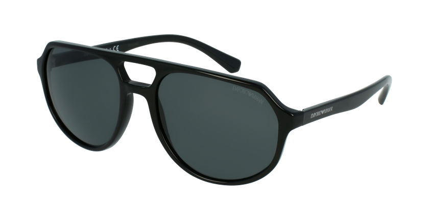 Gafas de sol hombre 0EA4111 negro - vue de 3/4
