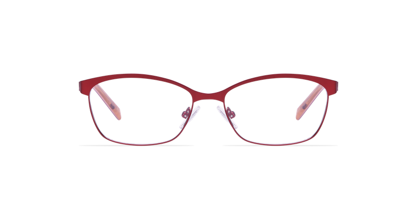 Gafas graduadas mujer SHIRLEY rojo - vista de frente