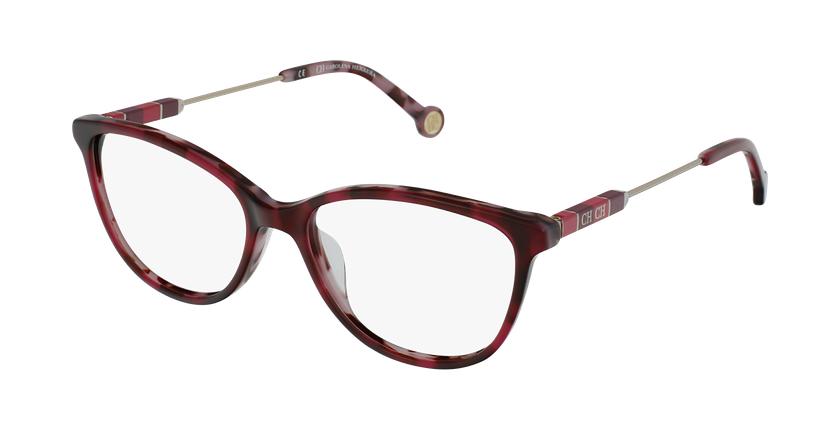 Gafas graduadas mujer VHE847L rojo/carey - vue de 3/4