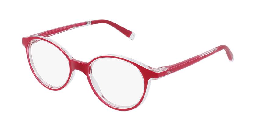 Gafas graduadas niños RFOP2 rojo - vue de 3/4