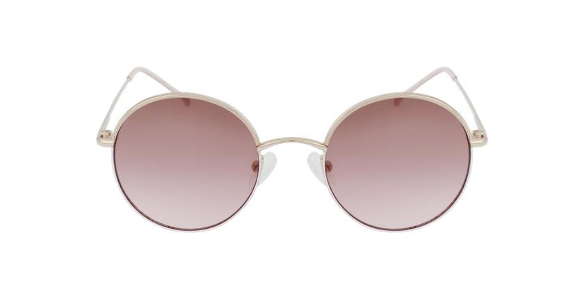 Gafas de sol PALOU dorado/rosa - vista de frente