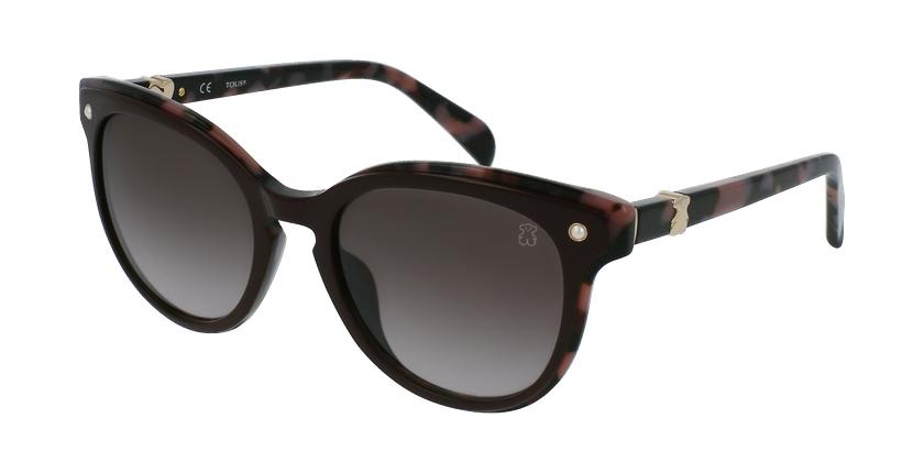 Gafas de sol mujer STOA28S marrón/rojo - vue de 3/4