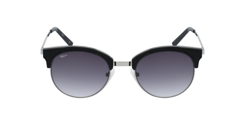 Gafas de sol mujer PERLA plateado/negro - vista de frente
