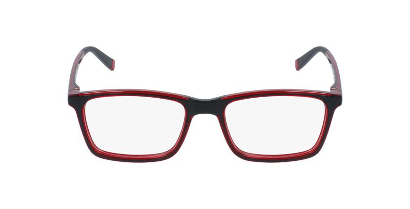 Gafas graduadas niños RFOC1 negro/rojo - vista de frente