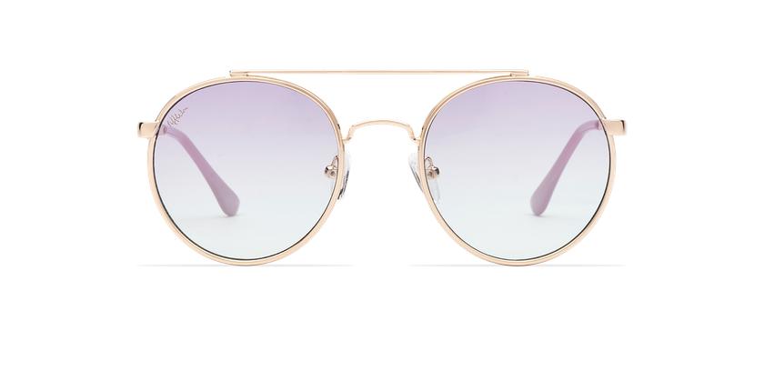 Gafas de sol MOHO dorado/azul - vista de frente