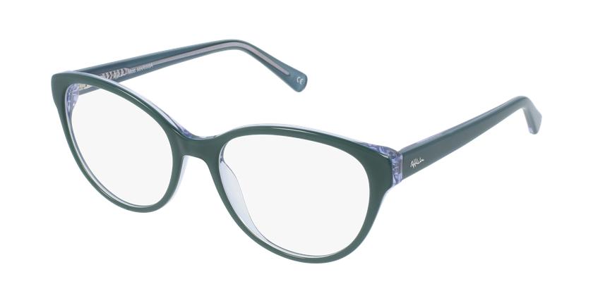 Gafas graduadas mujer OAF20521 verde - vue de 3/4
