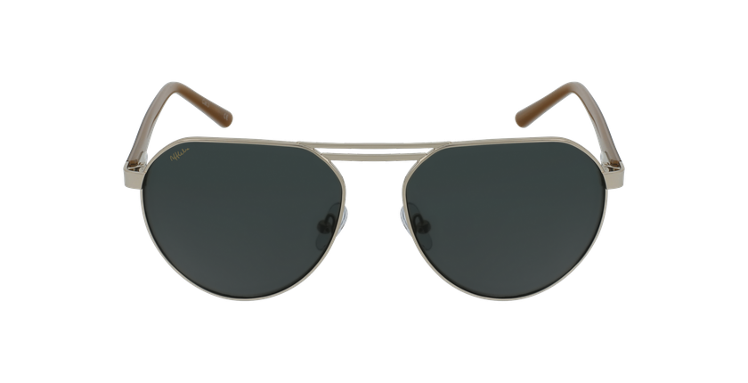 Gafas de sol hombre ALVIN dorado - vista de frente