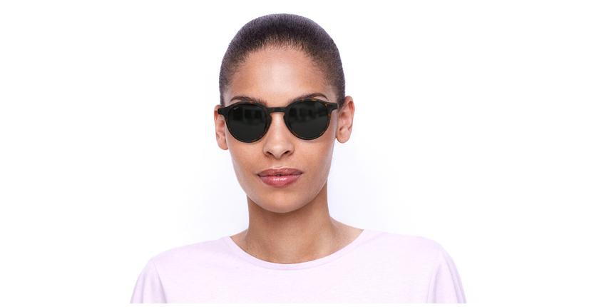 Gafas de sol mujer LILA carey/negro - vista de frente