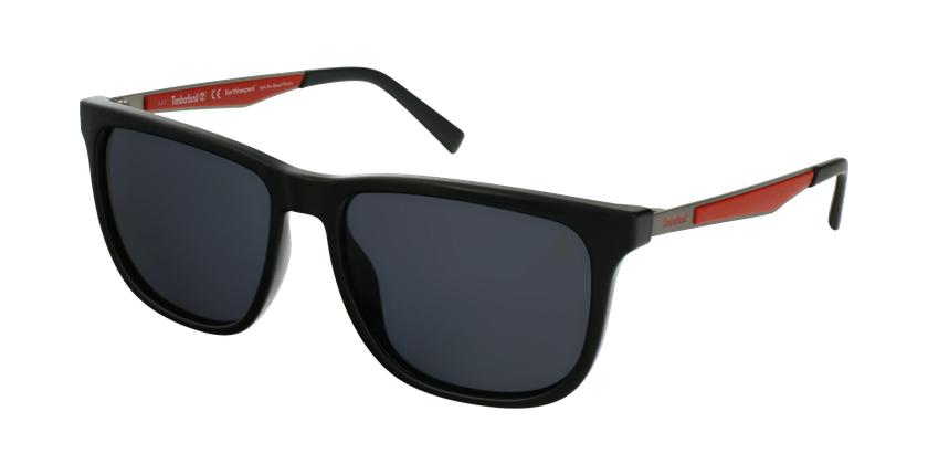 Gafas de sol hombre TB9234 negro/rojo - vue de 3/4
