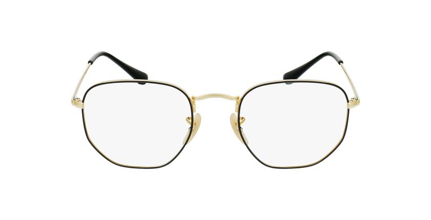 Gafas graduadas 0RX6448 negro/dorado - vista de frente