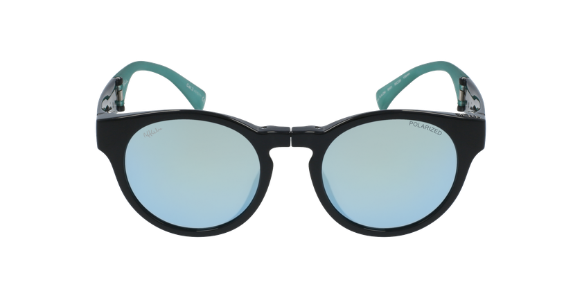 Gafas de sol mujer SLALOM negro/turquesa - vista de frente