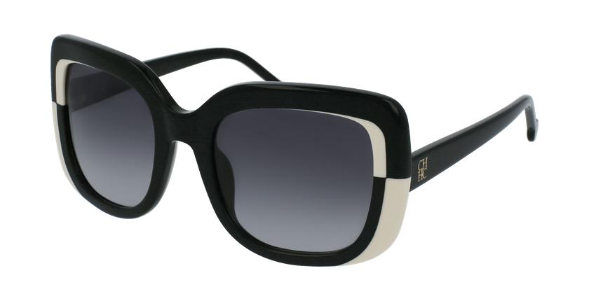 Gafas de sol mujer SHE786 negro - vue de 3/4