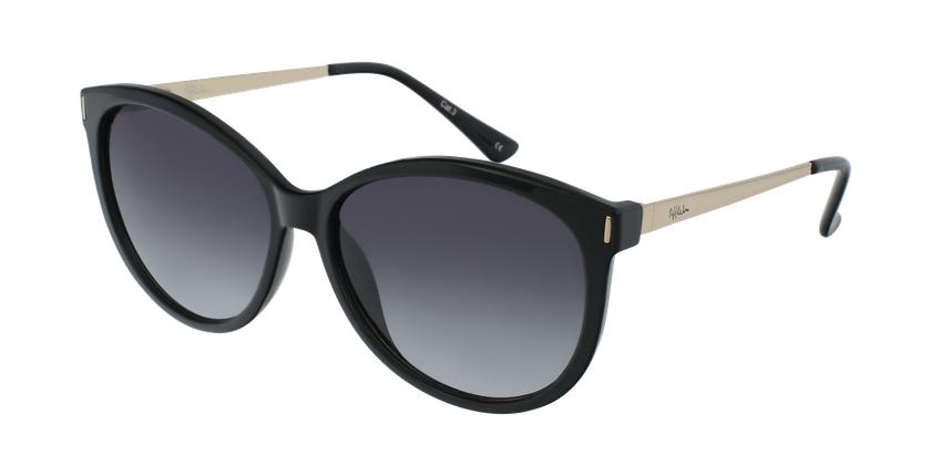 Gafas de sol mujer ZAFRA negro/dorado - vue de 3/4